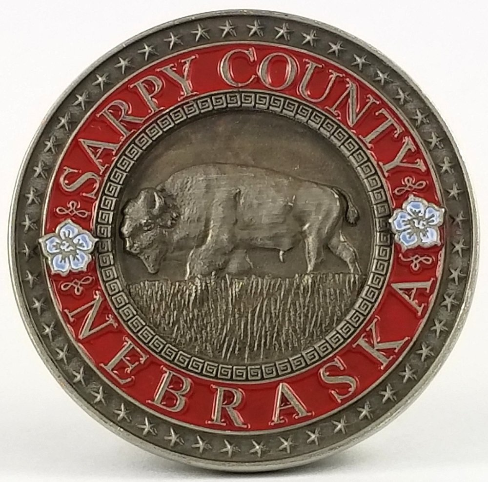 Sarpy County GeoTrail Club Award Coin