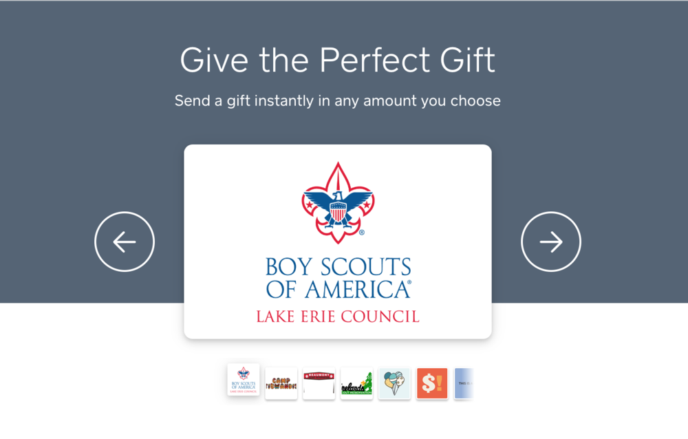 eGift Card Header