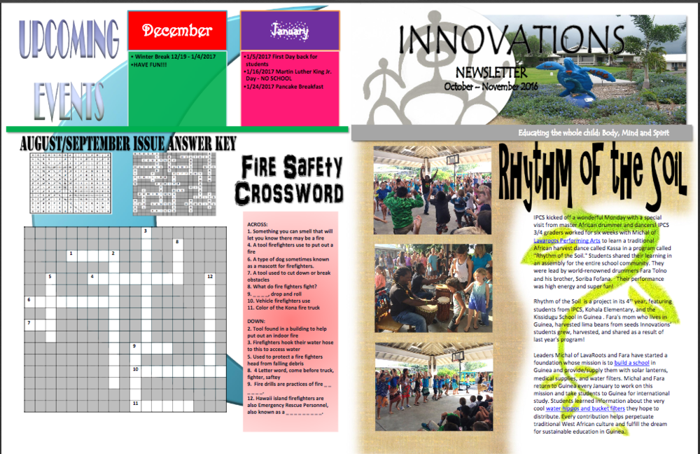 October - November 2016 Newsletter — Innovations Public
