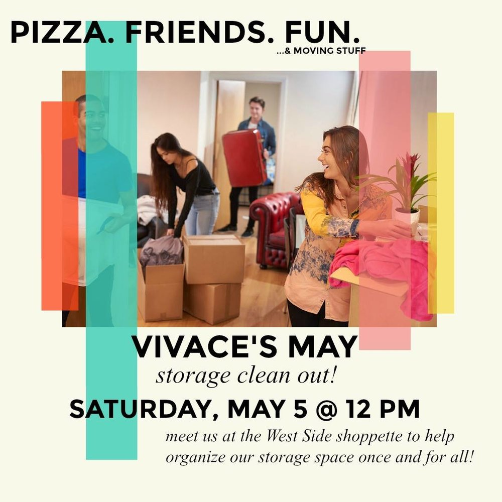 Vivace's May Monthly Meeting Flyer