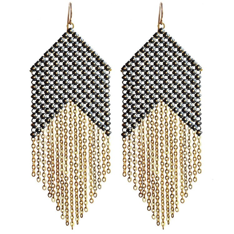 d62e8228f0006a Blackpoint Mesh Earrings — MARAL RAPP | Modern Vintage Works | Mesh ...