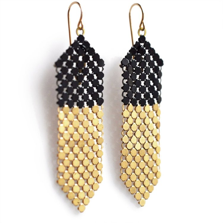 a3a8ff42f6ab3c Dipstick Mesh Earring. Dipstick Mesh Earrings | modern handmade jewelry ...