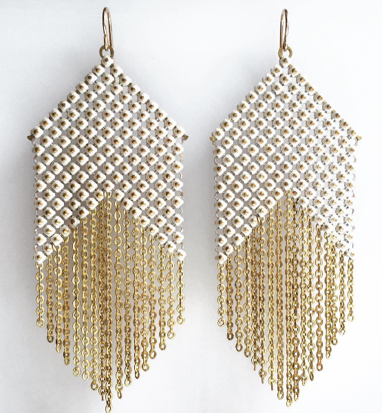 5bf4deecb066ca Whitepoint Mesh Earrings — MARAL RAPP | Modern Vintage Works | Mesh ...