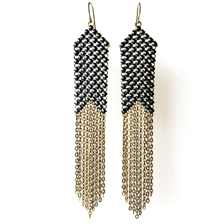 50ee6ba3094886 Blackpoint Slim Mesh Earrings — MARAL RAPP | Modern Vintage Works ...