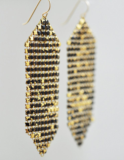 9f6b92dba5c8e6 Wabi Sabi Mesh Large Earrings — MARAL RAPP | Modern Vintage Works ...