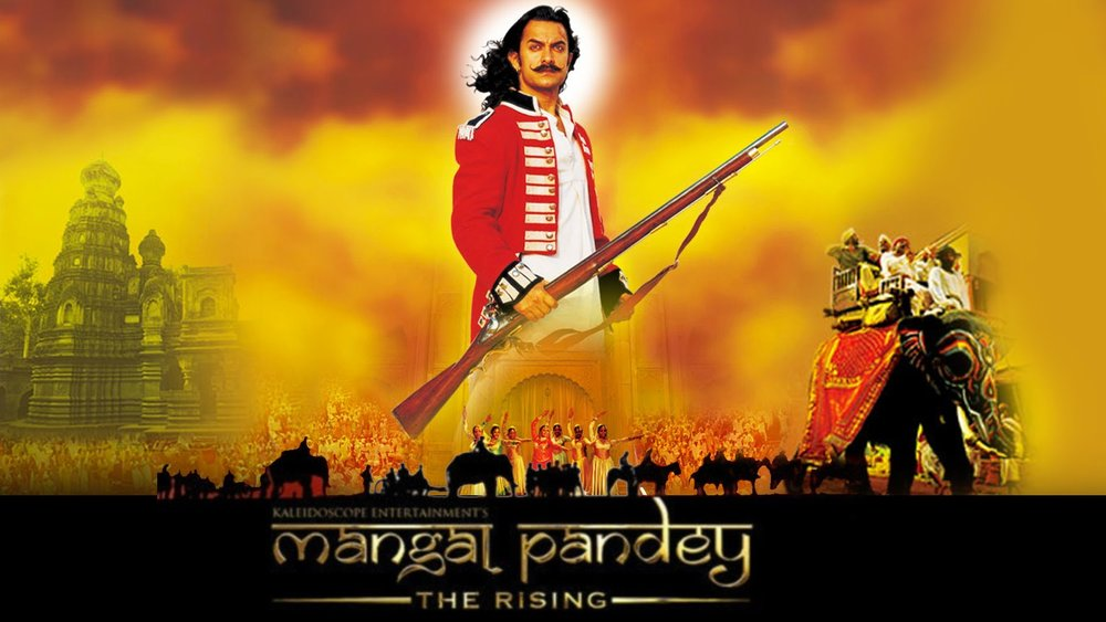 Film poster from  The Rising: The Ballad of Mangal Pandey , dir. Ketan Mehta, 2005