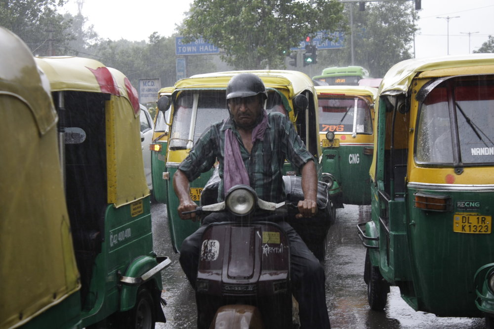 Old Delhi in the rain  (photo by K. Brøndsted)
