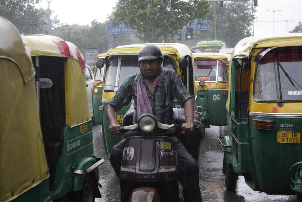 Old Delhi in the rain  (photo by K. Brøndsted)