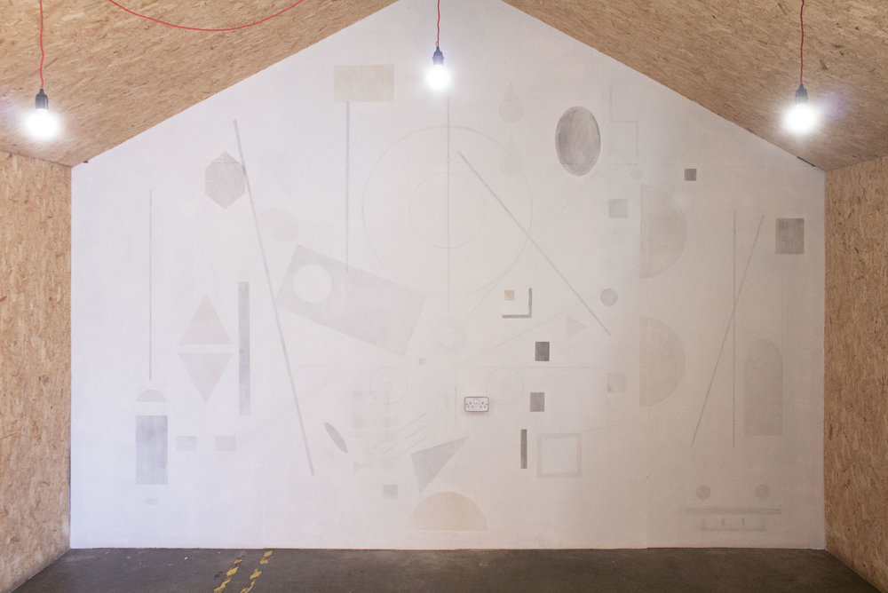 Traces, wall mural at Spit and Sawdust, Cardiff. Image credit © Emma Hornsby