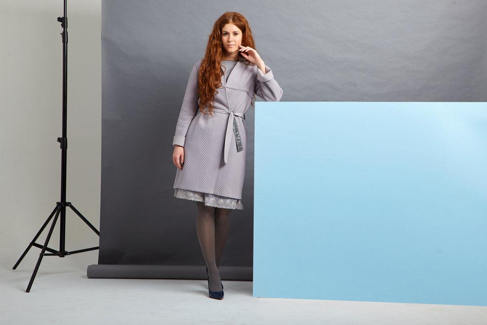 Комплект: пальто/жилет + платье