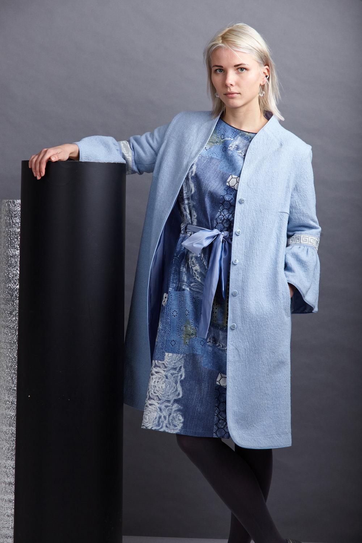 Пальто/жилет из ткани букле