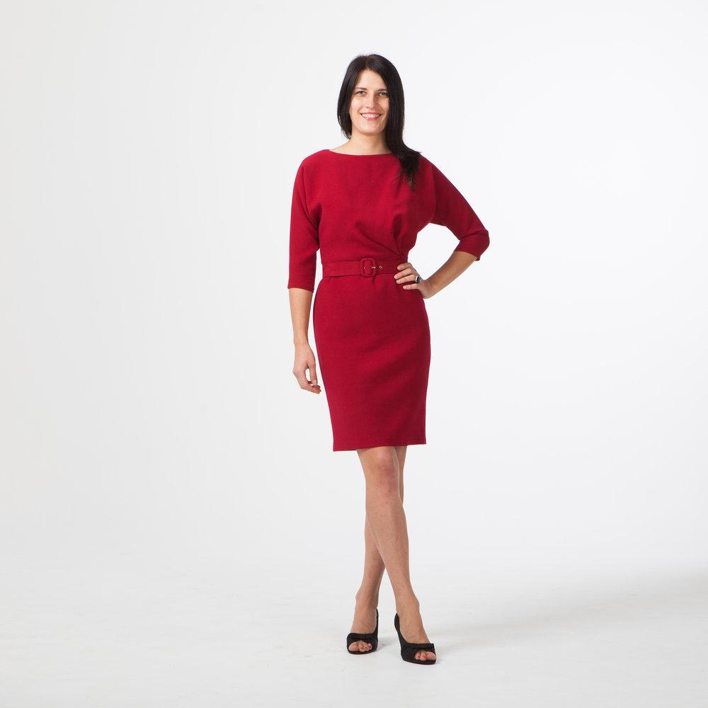 Платье−кимоно в деловом стиле