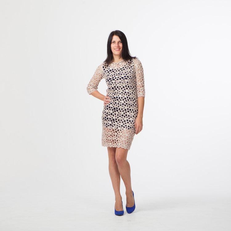 Коктейльное платье со сменным нижним платьем