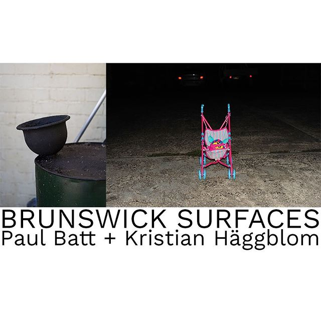 """Brunswick Surfaces"" a collaborative project by @kristian_haggblom & @paul_batt opened this week. Motor Works Gallery, 37-41 Arnold Street, South Yarra. Monday - Friday 8 - 5.  #brunswicksurfaces"