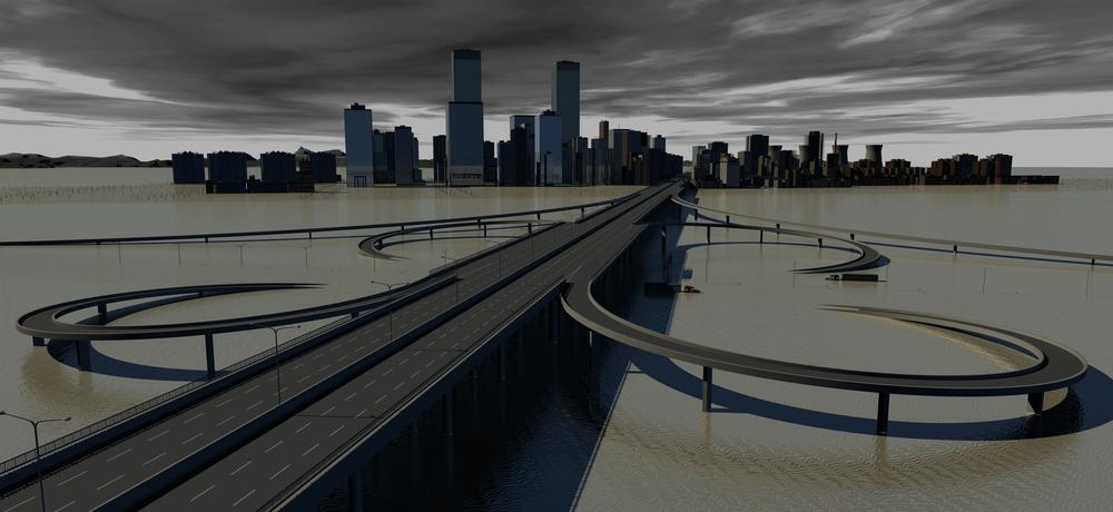 Flooded Urban Infrastructure (c) Shutterstock