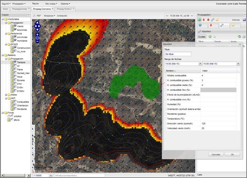 Meteogrid Fire Simulation