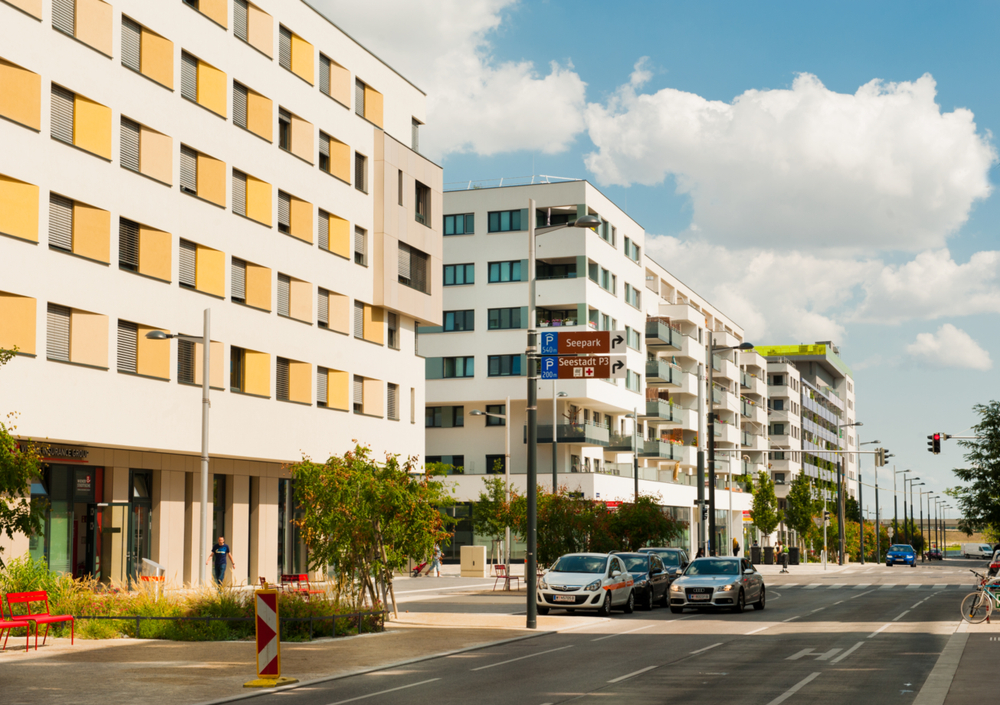 """The city development area """"Seestadt"""" is one of the largest in Europe since 2010. 20,000 people are expected to live and work here by 2030 ©Elena Pominova/Shutterstock.com"""