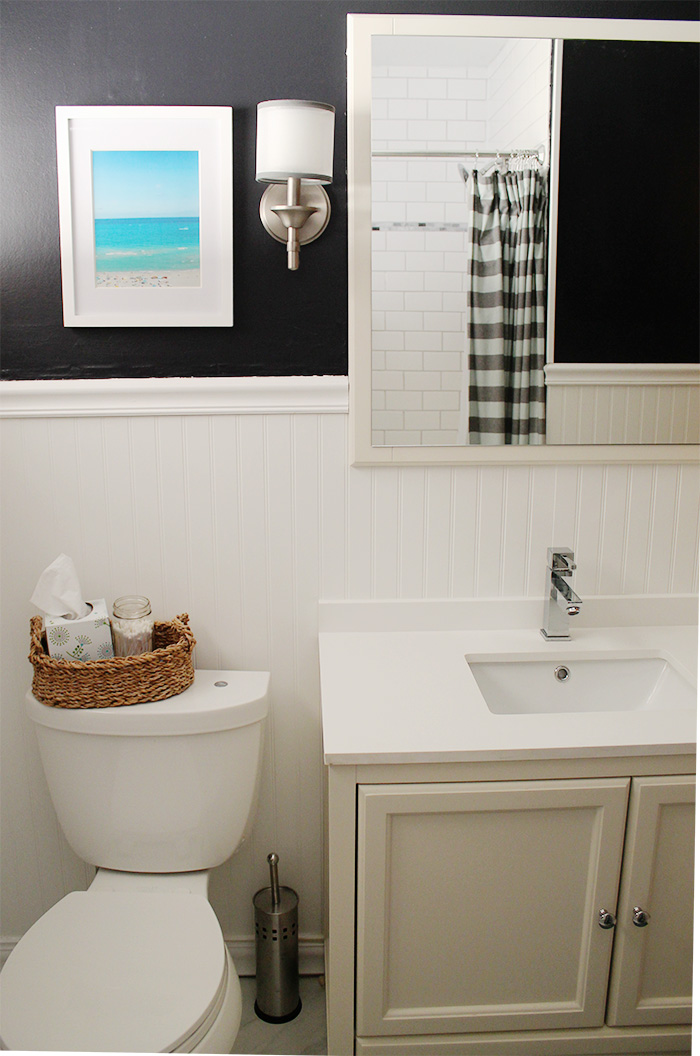 white bathroom vanity