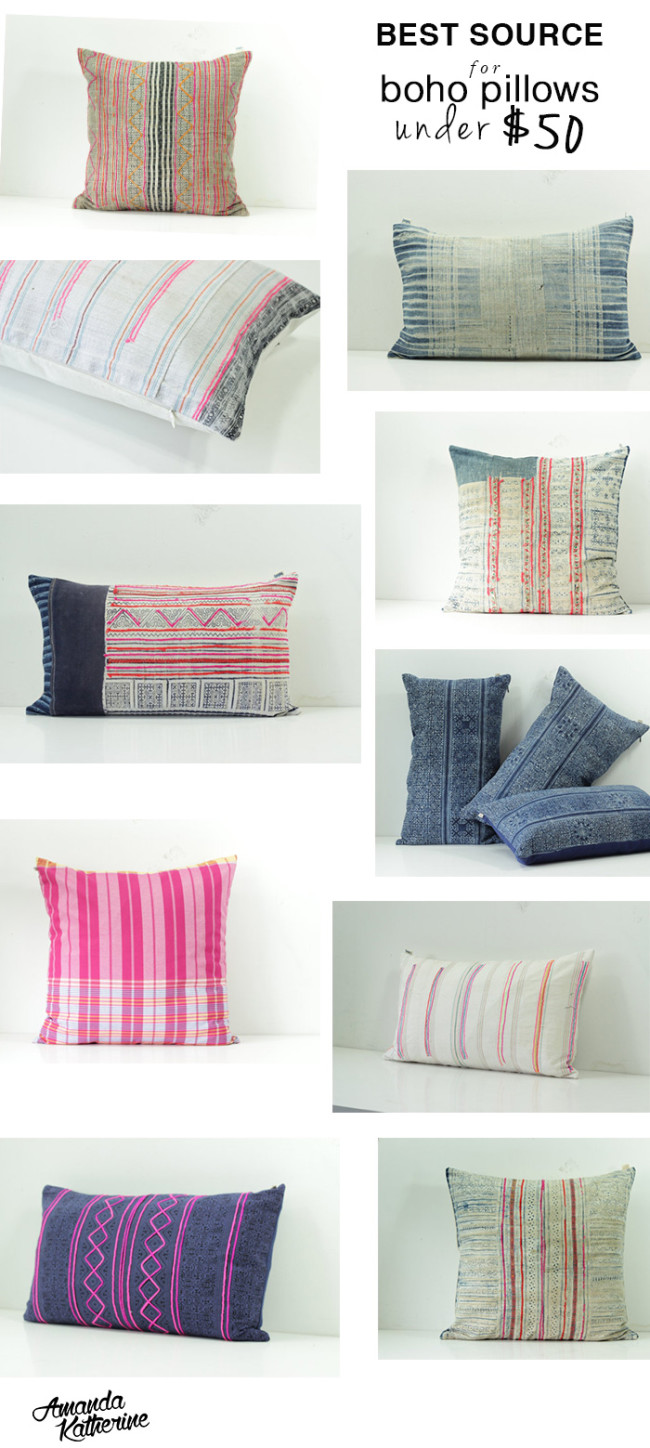 best source for boho pillows under $50