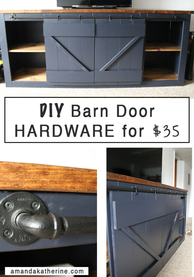 DIY Barn Door Hardware For $35