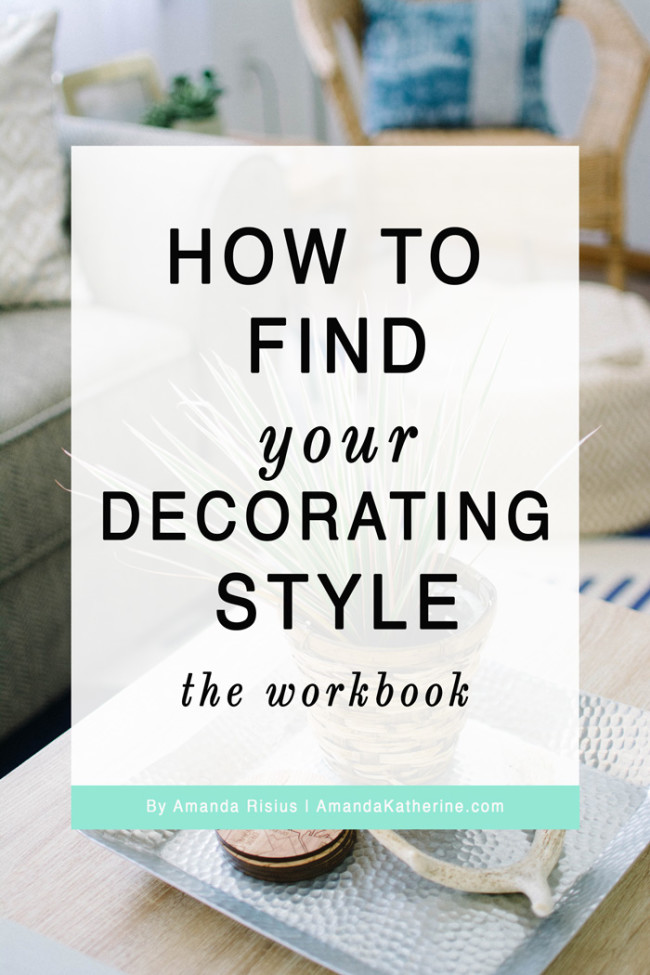 How To Find Your Decorating Style with Workbook