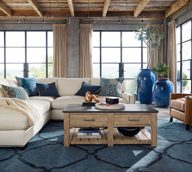 modern boho rustic living room