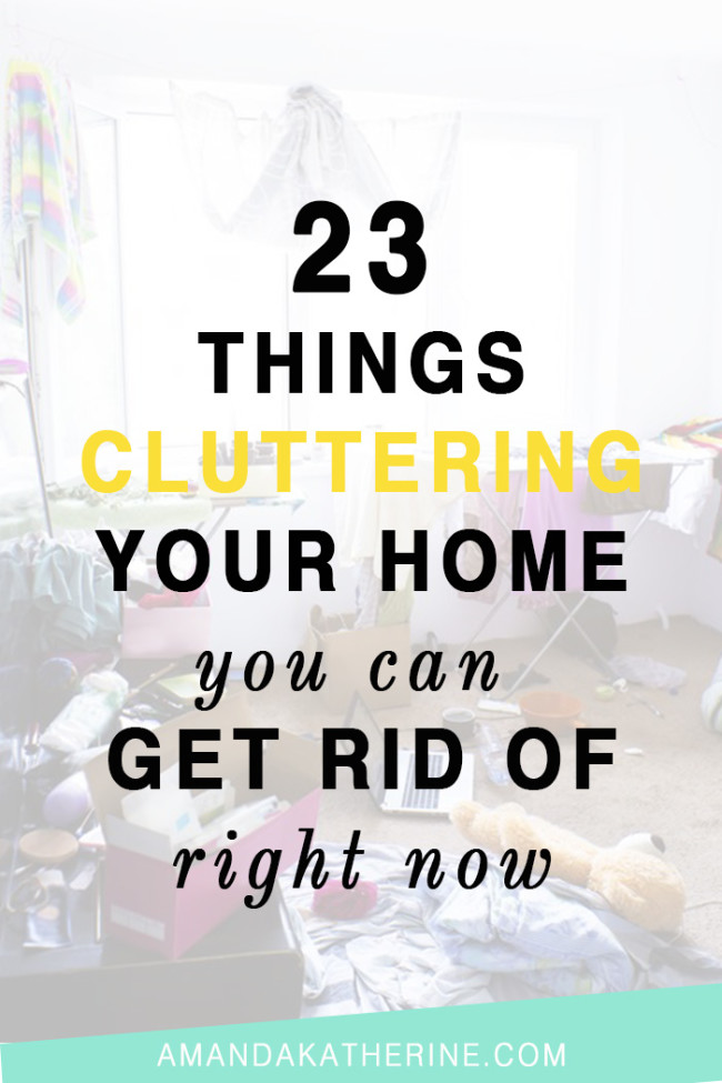 23 things cluttering your home