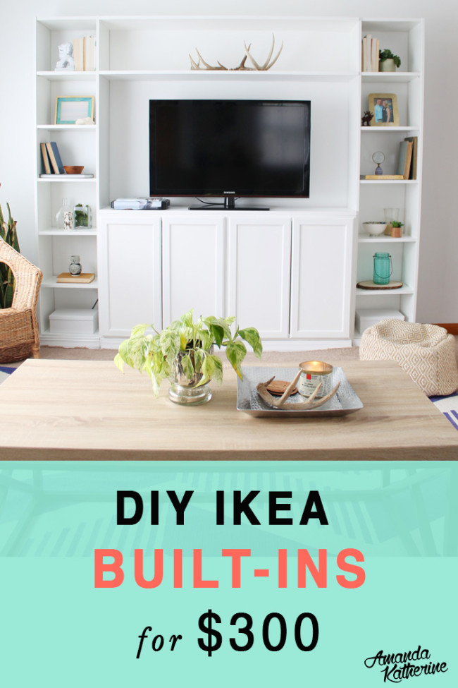How To Make Your Own Diy Ikea Built Ins For 300 Amanda Katherine
