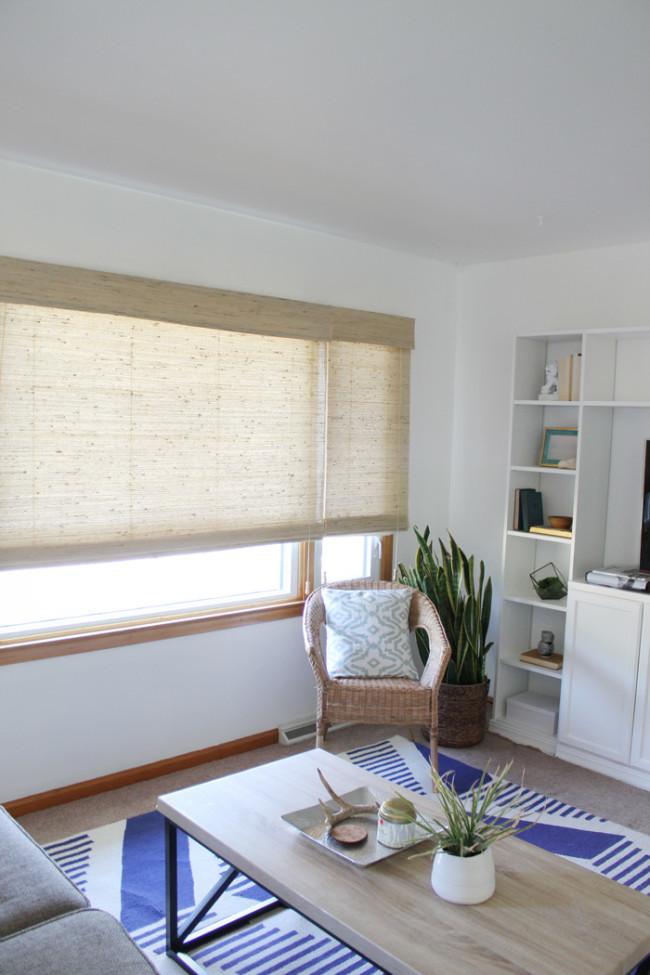modern rustic cottage living room