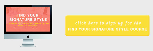 sign up for find your signature style