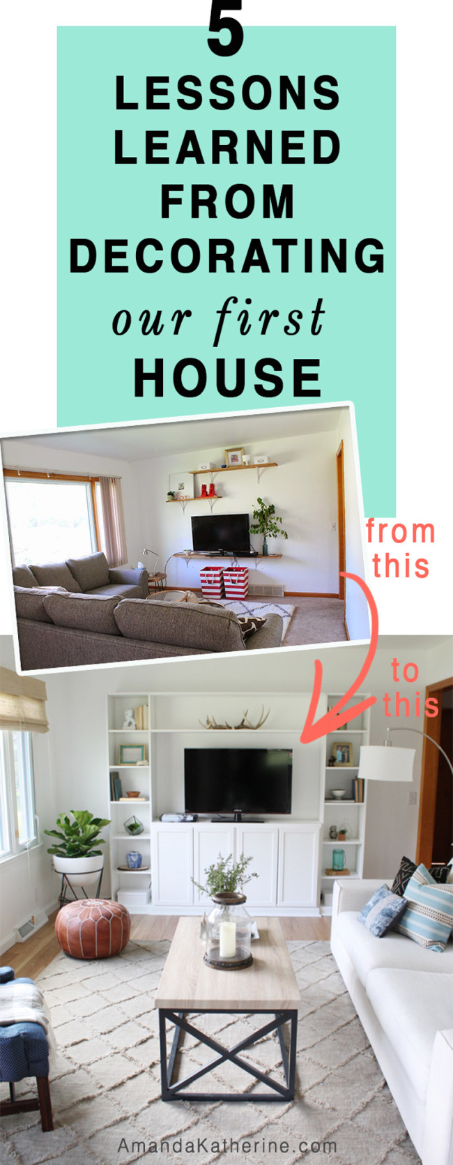 5 lessons learned from decorating our first house