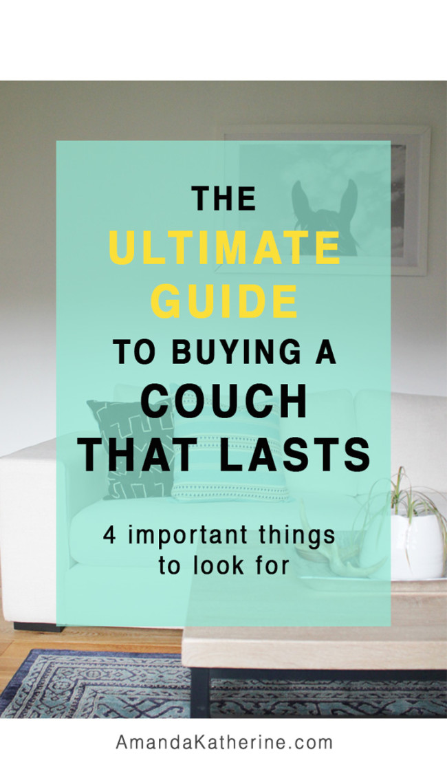 tips to buying a couch for your home that will last