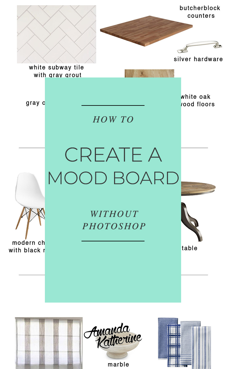 how to create a mood board without Photoshop for your design plan
