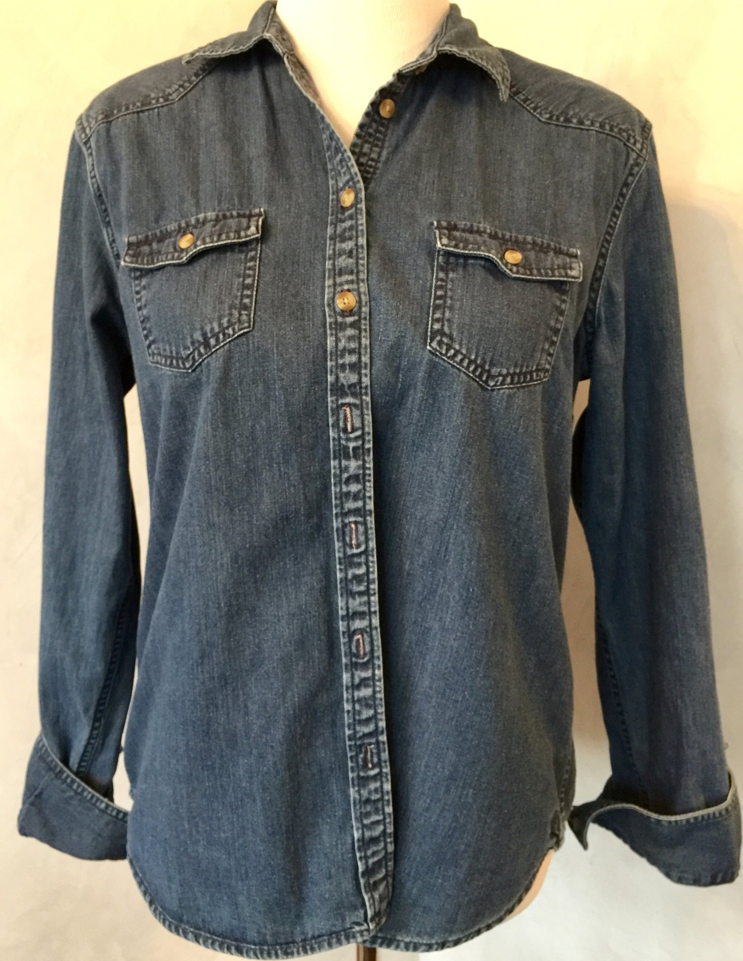 Root Man Ii Custom Embroidered Denim Shirt The Hanky Shoppe