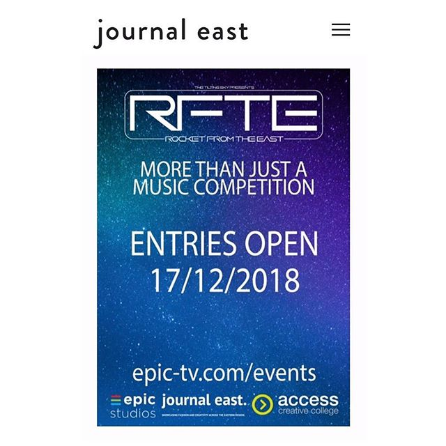 NEW! We are happy to announce that we are sponsoring Rocket from the East 2019 - a new music competition supporting the creative talent coming out of Norfolk! Visit our website for further details #music #norfolk #competition