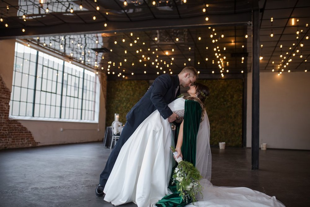 Photographer:  Katie Corinne Photography     Venue:  Moss Denver     Event Planner:  Pick Me Floral and Event Design     Beauty: ElèPosh    Dress Store:  The Bridal Collection     Floral Designer:  The Garden Path Co.