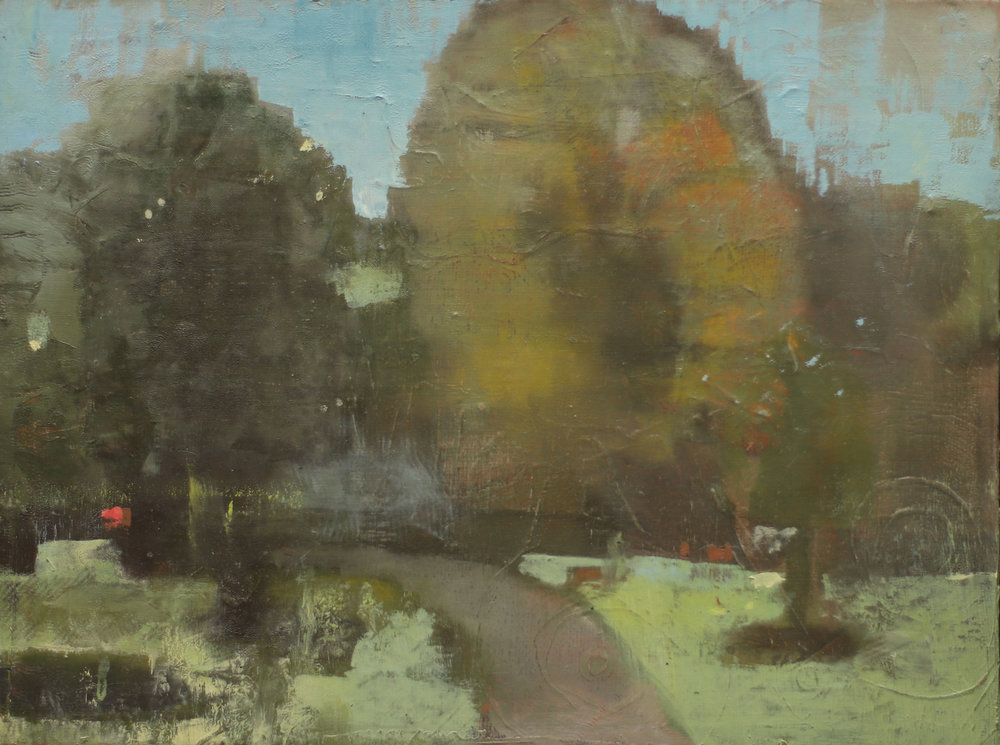 Prospect Park Nethermead-2015 oil on panel