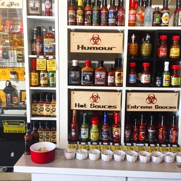 Hey can you spot the barnfather? 👀  Super proud to be stocked with @chilli_shop_leeds. We're on the tasting shelf this week so be sure to come down and try some 🤘🔥🎉 #sauce#chillisauce#taster#saucy#fresh#tasty#banging#pineapple#pineapplehotsauce#og#saucelife#startup#thenorth#leedsleedsleeds