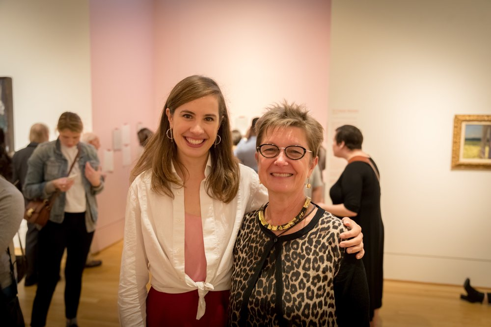 Georgia Saxelby with Dorothy Kosinski, Director of The Phillips Collection | Photo Joe Gibson
