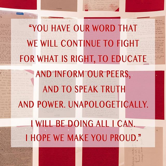 "Part art and part history, #ToFutureWomen, is a collective trove of letters to the next generation. The project will be archived for 20 years by participating national cultural institutions in Washington DC and re-exhibited in 2037 on the 20th anniversary of the Women's March. Join us by submitting your letters today! . . .  Excerpt from a TFW letter written by a 23-year-old male. • ""To future leaders, thinkers, dreamers... You have our word that we will continue to fight for what is right, to educate and inform our peers, and to speak truth and power. Unapologetically. This will not only take the power of women but also of men and boys who want to do right by each other and humanity. I will be doing all I can. I hope we make you proud."""
