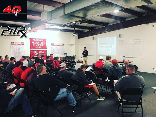 Coach Dillon @coach_dill_ presenting for @pitrxbaseball in Loganville, GA on #streghthandconditioning #4dsportsny #ny #loganvillehighschool #georgia #sports #pitrxbaseball #optogaze #nationalpitchingassociation #motivation #athletes #education #sharetheknowledge