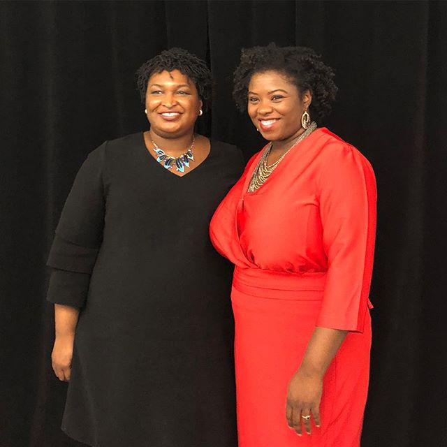 With the future Governor of Georgia #BlackWomenLead