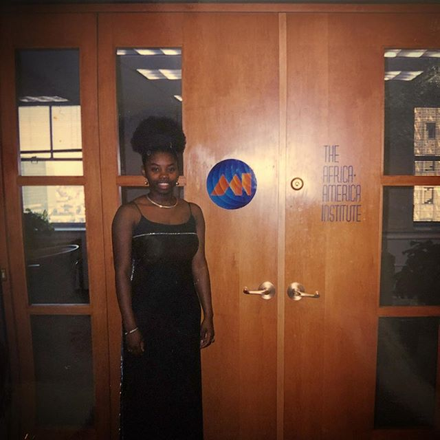 How serendipitous that @naacp President Derrick Johnson would invite me to attend the @aaiafrica gala recently. Unbeknownst to him, I was an intern there in 1998 as a sophomore in college. I got to tell that story and meet @aaiafrica's President and CEO Kofi Appenteng. #throwbackthursday