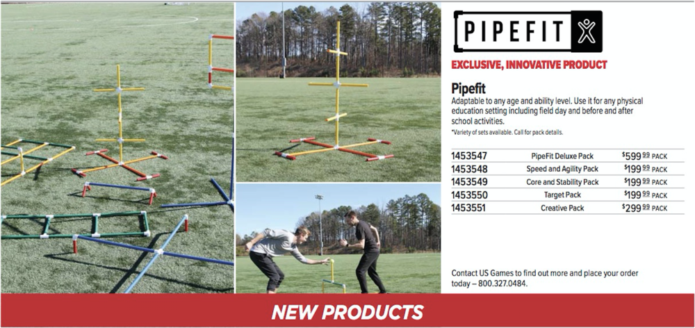 PipeFit featured  in new USgames catalog!  -