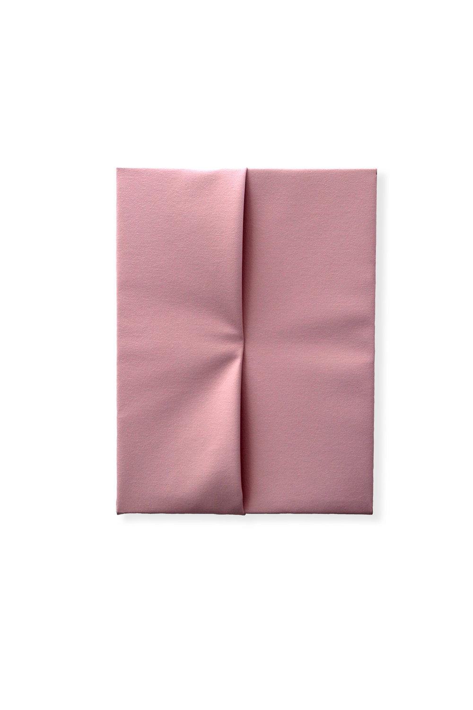 Congiunzione Rosa  - 2016  Pigmento acrilico su tela piegata  40 x 30 cm  Collezione Privata
