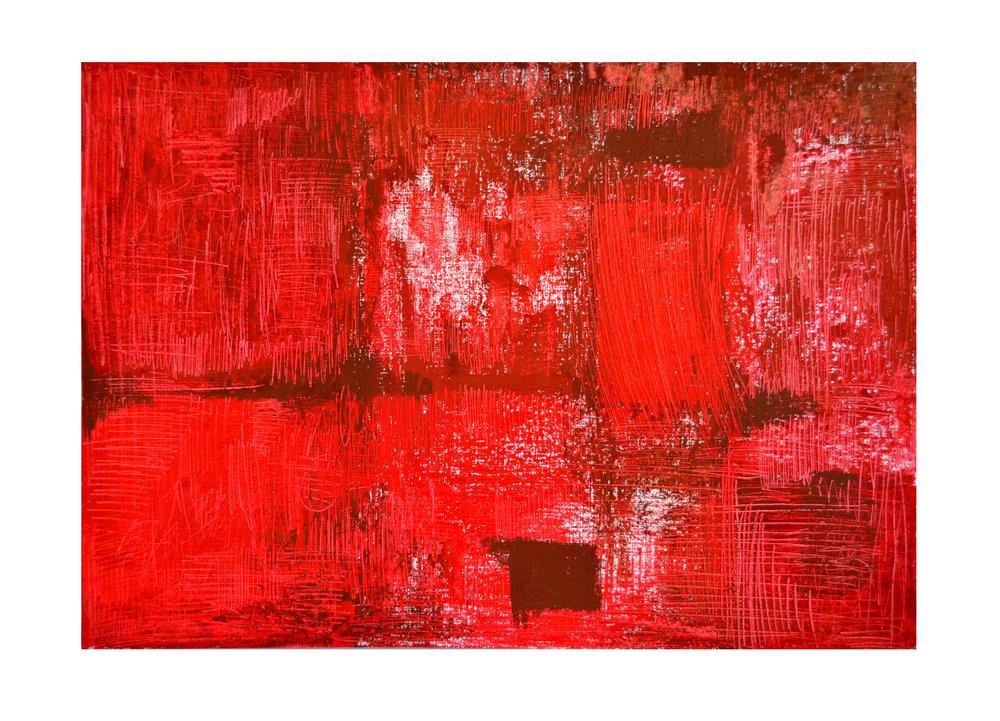 Incontri di Rossi  - 2016  Pastelli ad olio su carta acrilica  42 x 59,4 cm