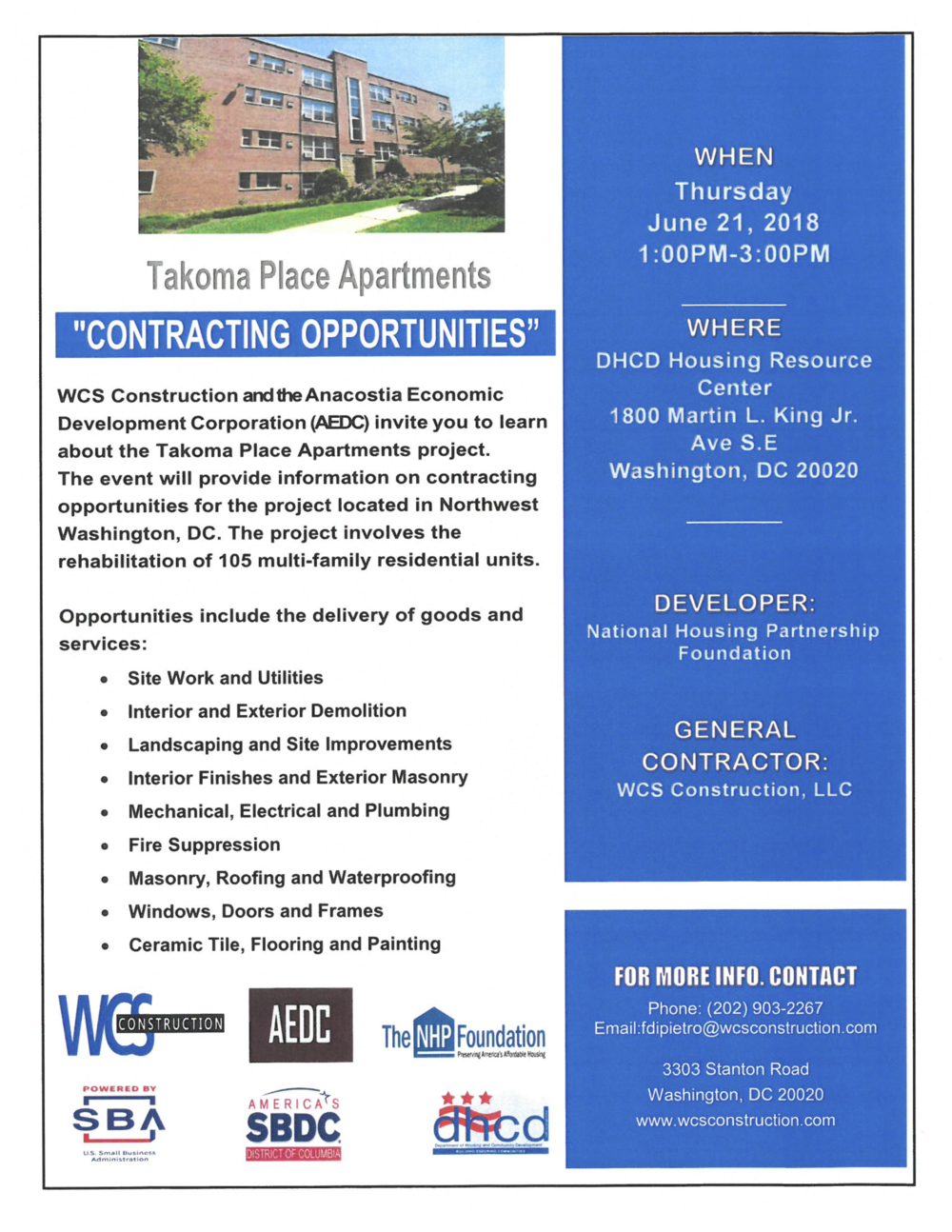 FLYER - Contracting Opportunities - Takoma Place Apartments - FINAL.png