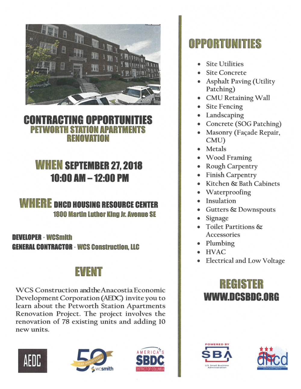 Flyer - Contracting Opportunities -  Petworth Station Apartments FINAL.png