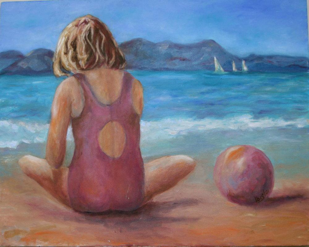 Gabriella at the Beach with PInk Ball.jpg
