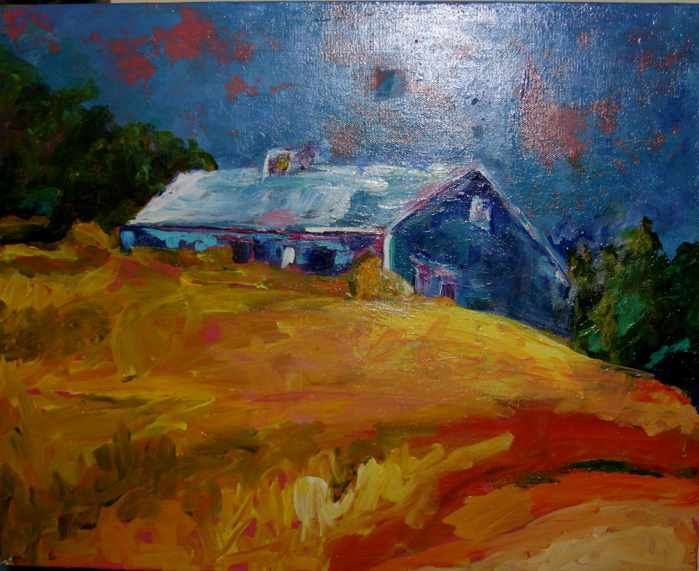 Blue House on the HIll inspired by Wolfe Kahn.jpg